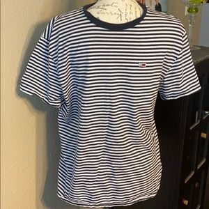 Tommy Hilfiger striped T-shirt size large  navy